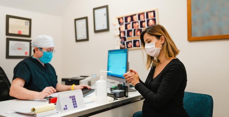 person receiving covid-19 vaccine