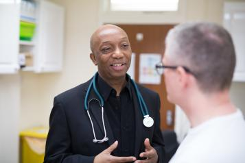 Doctor talking to a patient 2