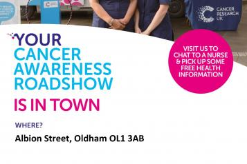 Cancer research uk roadshow august poster