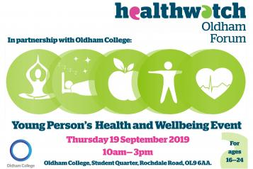 Poster of Young People's Health and Wellbeing Event