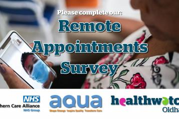 Remote Appointments Survey Poster