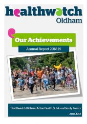 Front cover of HWO annual report 2018-19